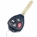 4 Button Toyota Scion Remote Replacement Case Shell with Key