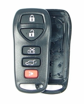5 button Nissan Quest remote replacement shell with rubber buttons