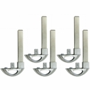5 PACK - INSERT KEY BLADE FOR BUICK PROXIMITY REMOTES 13510389 5929947 FOR FCC ID HYQ4EA HYQ4AA