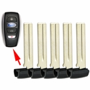 5 pack of Subaru smart remote emergency insert key replacement for 57497-AL02A 57497AL02A