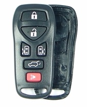 6 button Nissan Quest remote replacement shell with rubber buttons