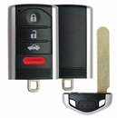 Acura 4 button smart remote case with insert key