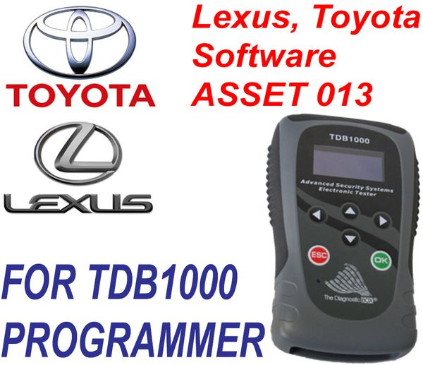 TDB1000 ASSET 013 ASSET013 LEXUS and TOYOTA Software Key and Proximity Programming - The Diagnostic Box