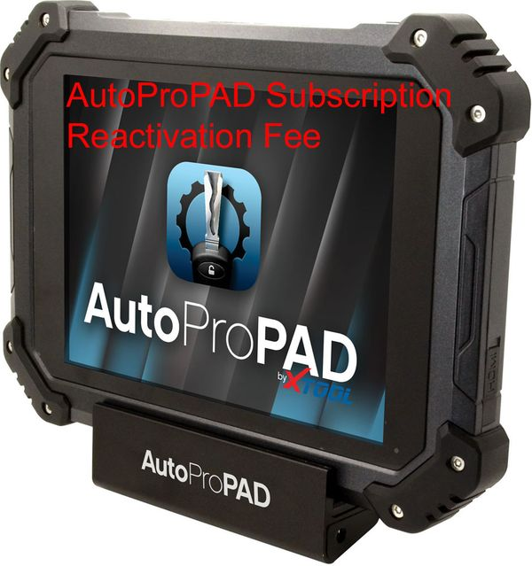 AutoProPAD & AutoProPAD Lite Subscription Reactivation Fee