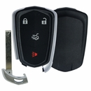 CADILLAC ATS, CTS, XTS 4 button remote case with insert key