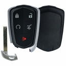 CADILLAC SRX, XT4, XT5 5 button remote case w/power door button and insert key