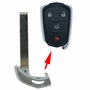 Cadillac Emergency Insert key for smart remotes HU100  - no chip 5 pack'