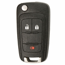 General Motors 3 Button Flip Key Remote PN: 20873621, 20873623 - Ilco brand