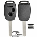 HONDA 3 button remote head rugged replacement D-SHELL case, shell with blank key