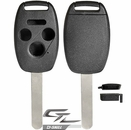 HONDA 4 button remote head rugged replacement D-SHELL case, shell with blank key