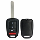 HONDA 4 button SUV remote case with blank key