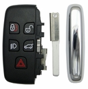 Jaguar Land Rover 5 button smart remote shell w/ insert key