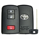 Original Toyota 3 Button Smart Remote Replacement Shell