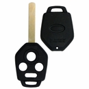 Subaru 4 button remote case / shell with blank key (high security blade)
