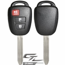 Toyota remote head rugged replacement DURASHELL case, shell with blank key