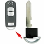 UNCUT EMERGENCY KEY BLADE FOR MAZDA SMART KEY W/OUT CHIP'