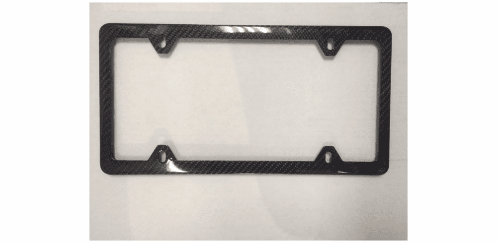 Carbon Fiber License Plate Frames 4 Hole Glossy