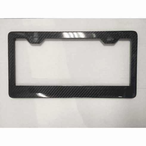 Carbon Fiber License Plate Frames<br> Wide Bottom Glossy
