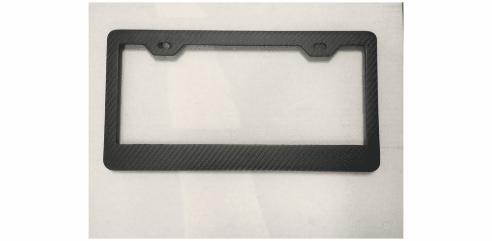 Carbon Fiber License Plate Frames<br> Wide Bottom Matte Finish