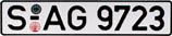 European License Plate Old Style
