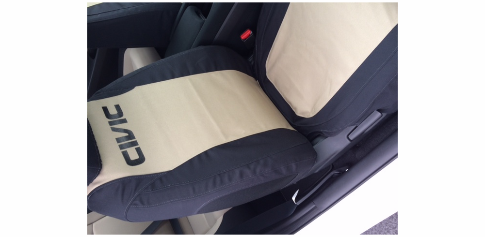 FRONT SEATS<br> Two Tone Custom Canvas Seat Covers