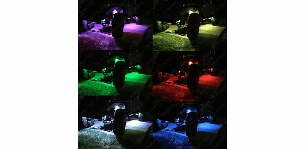 LED Rock Lights Multi-Color  4 pc Kit