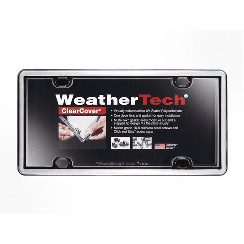 WeatherTech ClearCover™ License Plate Frame: Chrome Finish