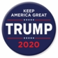 Blue Trump 2020 Button