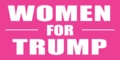 Women for Trump Sticker