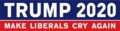 Make Liberals Cry Again Bumper Sticker