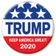TRUMP Patriotic KAG Button
