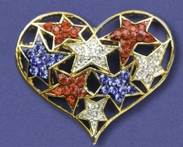 Collage Star Pin