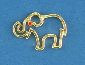Gold Elephant Lapel Pin