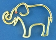 Gold Outline Elephant Pin