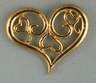 Hearts and Scroll Pin