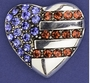I Love the USA Heart Pin