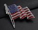 Flag Pin with Tassles