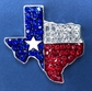 Crystal Lone Star Pin