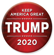 Red Trump 2020 Button