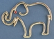 Silver Outline Elephant Pin