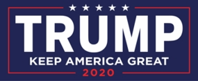 Trump - Keep America Great Sticker - Blue