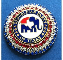 Texas GOP Crystal Pin