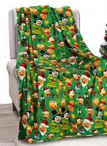 Funny Faces Holiday Blanket