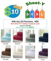 A Real Sheet-Y Deal - $10 Sheet Sets