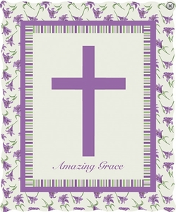 Amazing Grace Cross Quilted Throw