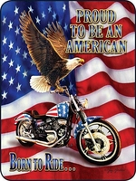 American Motorcycle Perfect Size Throw
