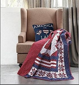 Americana Quilted Throw