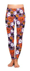 Attack Of The Pumpkin Leggings (Large/XL)