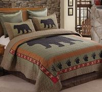 Bear & Paw King  Quilt Ensemble