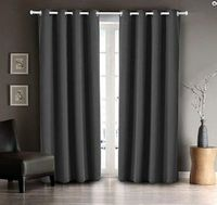 Black Out Curtain Set (36x84):  Gray